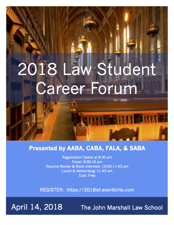 2018 Law Student Career Forum